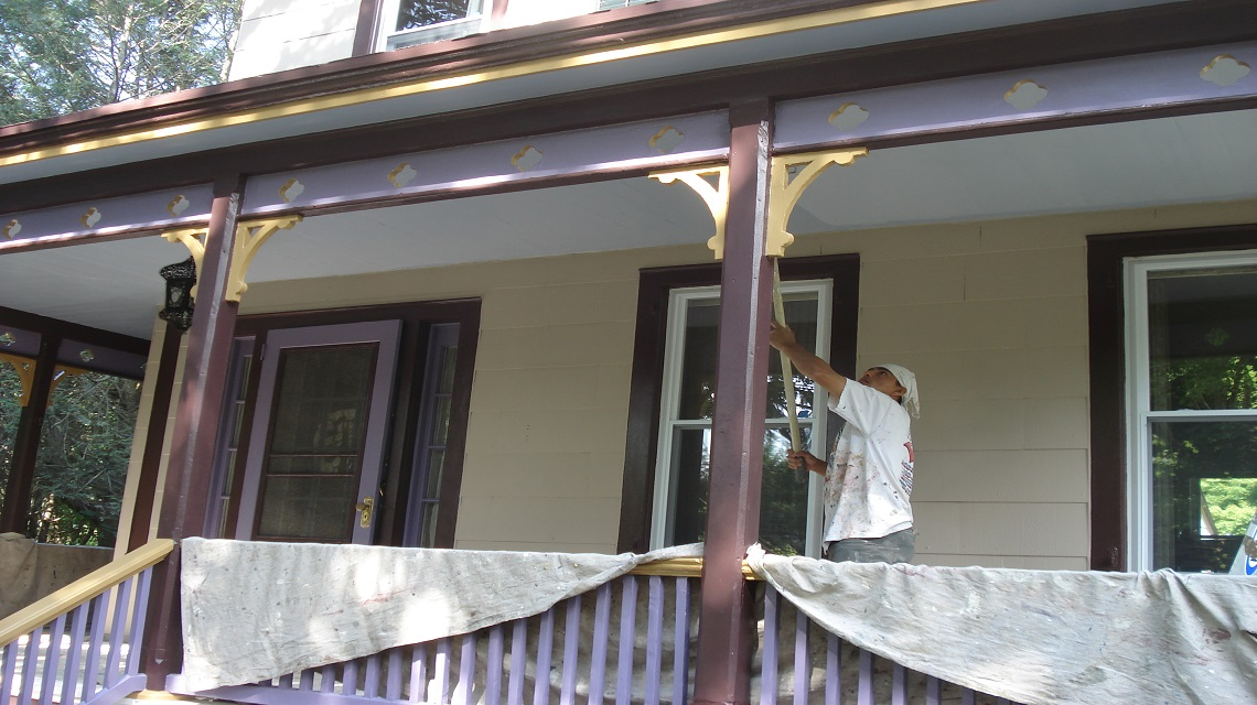 Gikas painting preparation gikas painting professional interior exterior painting - Painting preparation exterior photos ...